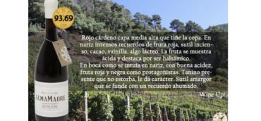 ALMAMADRE 2015 OBTIENE 93.69 PTS EN LA GUÍA DE VINOS Y DESTILADOS WINE UP. ALMALOLA, 91.08 PTS